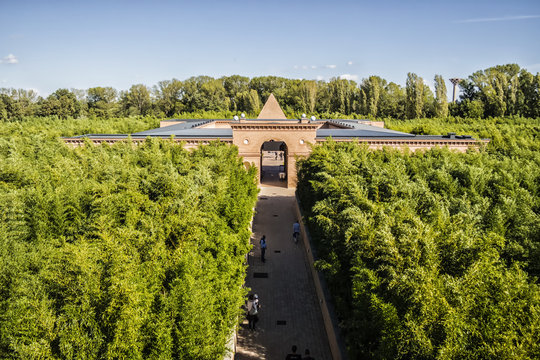 View on the Masone labyrinth in Fontanellato, Parma - Italy
