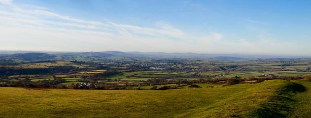 Panoramic view of Tavistock from Dartmoor