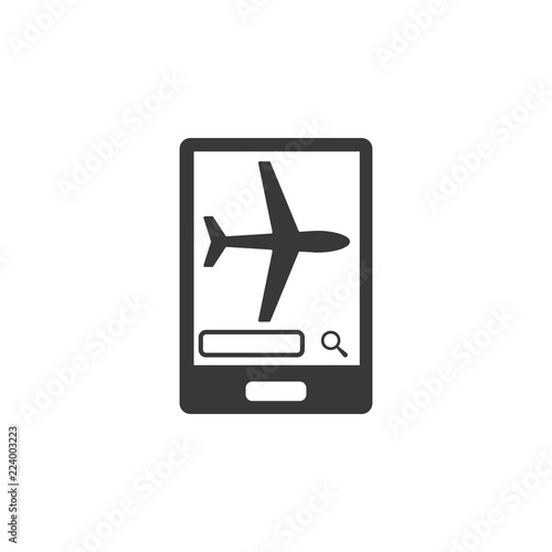online purchase of plane ticket icon  Element of airport