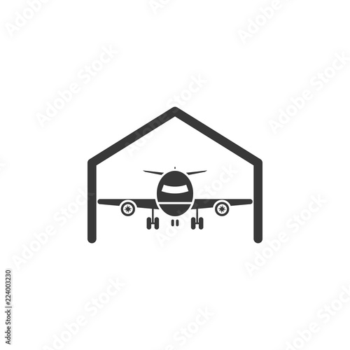 Aircraft Hangar Icon Element Of Airport Icon Premium Quality