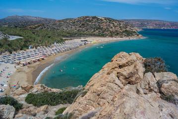 a view of crete island in greece