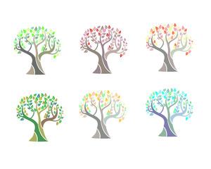 Illustration of tree on white background