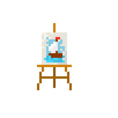 Pixel easel for games and websites
