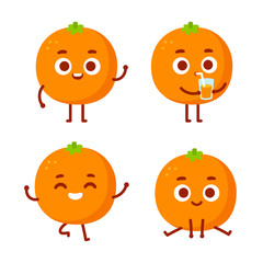 Cute cartoon orange character