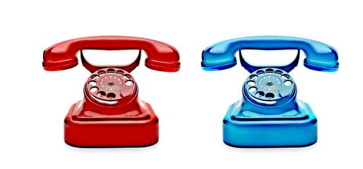 Rotes und Blaues Telefon