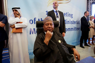 OPEC Secretary-General Mohammed Barkindo attends the OPEC Ministerial Monitoring Committee in Algiers