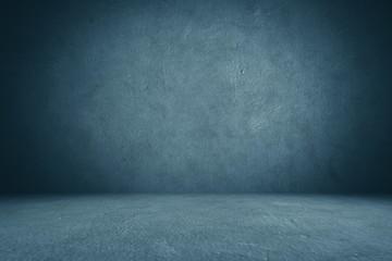 cement floor and wall backgrounds, dark room, interior.