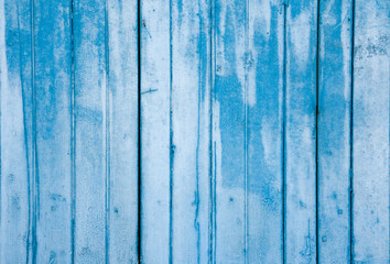 Blue wood texture background or old Blue wood panel with natural wood pattern.