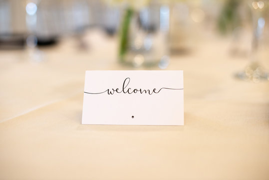 Welcome Table Cards
