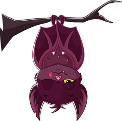 Cartoon Sleeping Bat