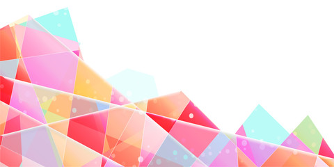 Abstract vector background, translucent triangular splinters with gradient.
