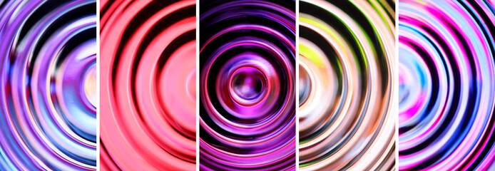 Abstract backgrounds with defocused concentric circles