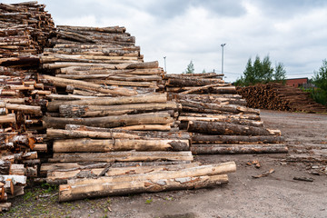 Stock of timber