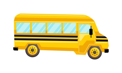 School Bus Template Vector Isolated Design