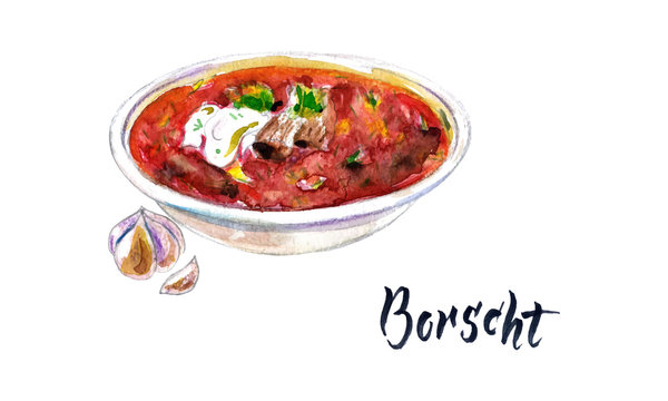 National Ukrainian beetroot soup