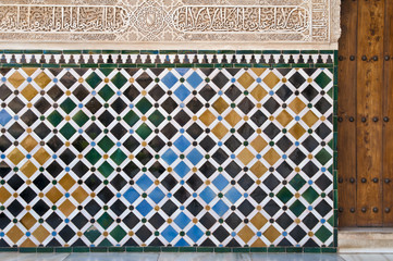 Myrtenhof, Nasridenpalast, Alhambra, Granada, Andalusien, Spanien