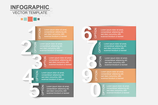 Timeline infographics design vector and marketing icons can be used for workflow layout, diagram, annual report, web design. Business concept with 10 options, steps or processes