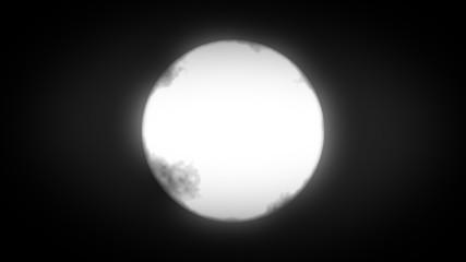 creepy glowing moon background