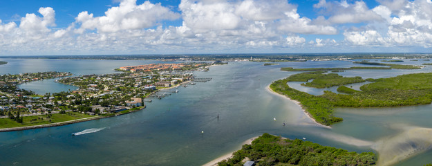 Fort Pierce Florida Panorama from the Inlet Wall mural