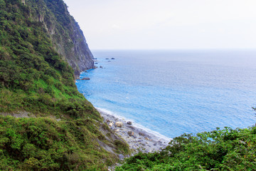 The beautiful ocean view and the coast