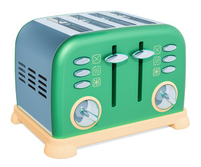 Retro toaster, 3D rendering