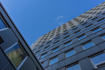 Hochhausfassade 70 iger Jahre Bau