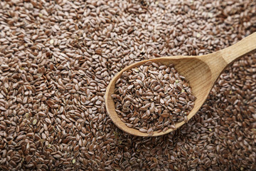 flax seeds scattered