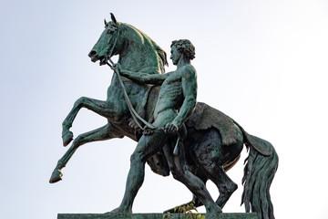 Bronze Horses in Naples, Italy
