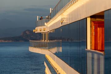 Reflections in a cruiseship window