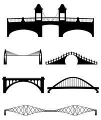 Fotobehang Brug A set of vector bridges