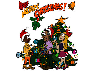 Merry Christmas in the Office Josephine, Manuel, Denisse