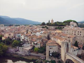 Besalu is medieval village in Girona province in Spain