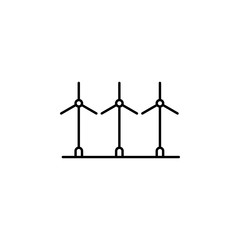 Electra windmills icon. Element of landscape icon for mobile concept and web apps. Thin line Electra windmills icon can be used for web and mobile