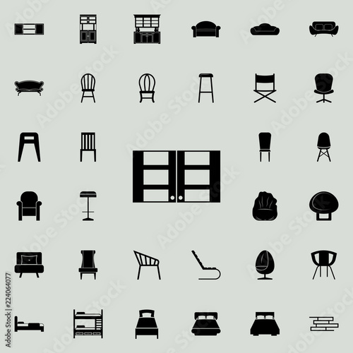 Kitchen Cabinet Icon Furniture Icons Universal Set For Web And