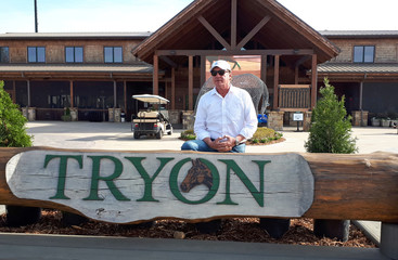 Mark Bellissimo is pictured at the Tryon International Equestrian Center in Tryon