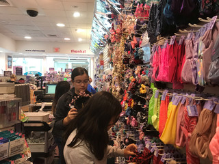 Young shoppers browse at a Claire's store in the Newport Mall in Jersey City