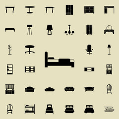 bed icon. Furniture icons universal set for web and mobile