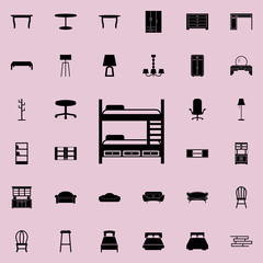 bunk bed icon. Furniture icons universal set for web and mobile