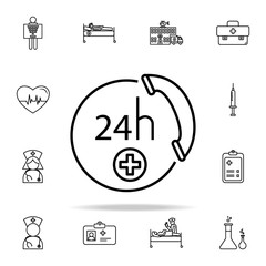emergency call icon. Hospital icons universal set for web and mobile