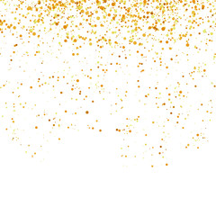 Yellow Confetti Isolated on White Background. Gold Parts.