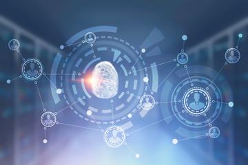Fingerprint hud interface and people network
