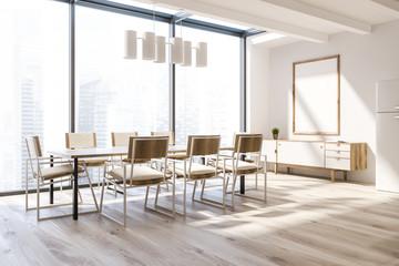 Panoramic dining room corner, poster