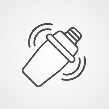 Shaker vector icon sign symbol