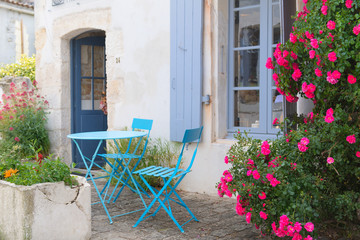 French terrace outdoor