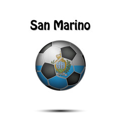 Flag of San Marino in the form of a soccer ball