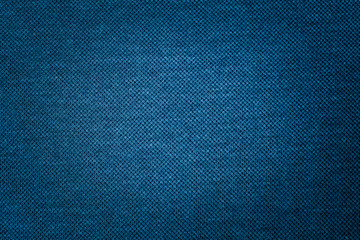 Dark blue fabric texture of cloth that is structurally textile fabric fibers background use us space for text or image backdrop design