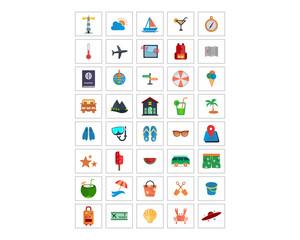 variation mixed vector business image vector icon logo symbol set