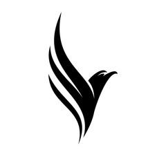 Black Eagle Fly Logo Design Inspiration Vector