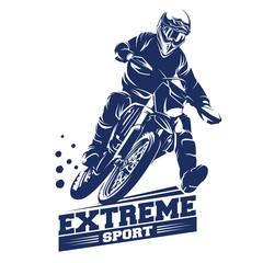Moto Track or Motocross Jump Illustration, Logo Inspiration Vector