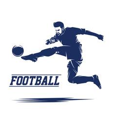 Soccer and Football Player Man LOGO VECTOR
